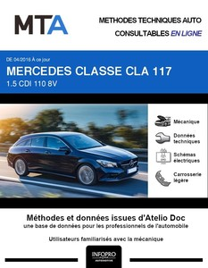 MTA Mercedes Classe CLA I (117) break phase 2