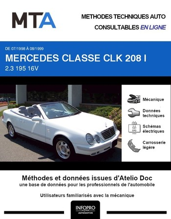 MTA Mercedes Classe CLK I (208) cabriolet phase 1