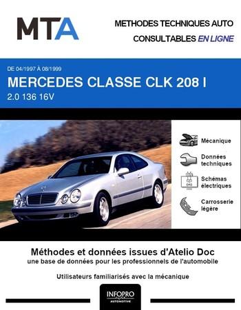 MTA Mercedes Classe CLK I (208) coupé phase 1