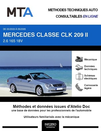 MTA Mercedes Classe CLK II (209) cabriolet phase 1