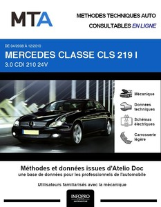 MTA Mercedes Classe CLS I (219) berline phase 2