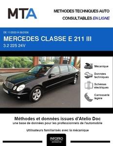 MTA Mercedes Classe E (211) berline 6p phase 1