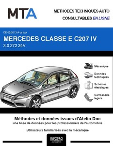 MTA Mercedes Classe E (212) coupé (C207) phase 2