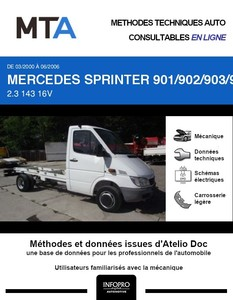 MTA Mercedes Sprinter (901-905) chassis cabine phase 2