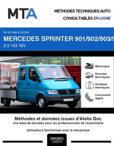MTA Mercedes Sprinter (901-905) chassis double cabine 3p phase 1