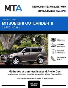 MTA Mitsubishi Outlander II phase 2