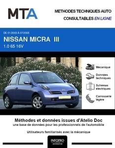 MTA Nissan Micra III (K12) 3p phase 1
