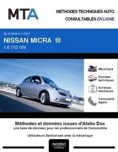 MTA Nissan Micra III (K12) 3p phase 2