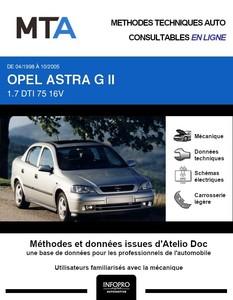 MTA Opel Astra G berline