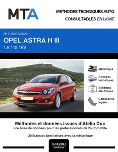 MTA Opel Astra H 3 portes phase 2