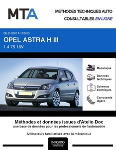 MTA Opel Astra H 5 portes phase 2