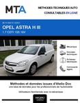 MTA Opel Astra H fourgon phase 2