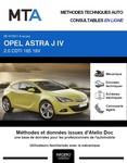 MTA Opel Astra J 3 portes phase 1