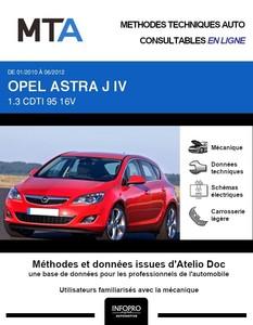 MTA Opel Astra J 5 portes phase 1