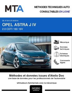 MTA Opel Astra J 5 portes phase 2