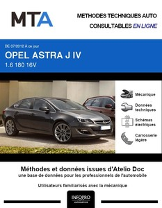 MTA Opel Astra J berline phase 2