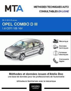 MTA Opel Combo C fourgon 3p