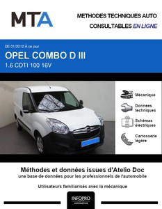 MTA Opel Combo C fourgon 4p