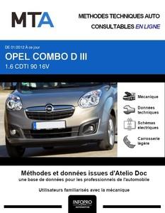 MTA Opel Combo C plateau double cabine
