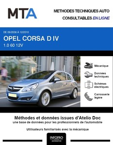 MTA Opel Corsa D 3 portes phase 1