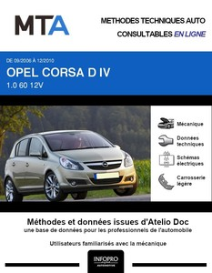 MTA Opel Corsa D 5 portes phase 1