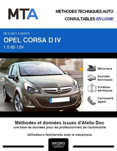 MTA Opel Corsa D 5 portes phase 2