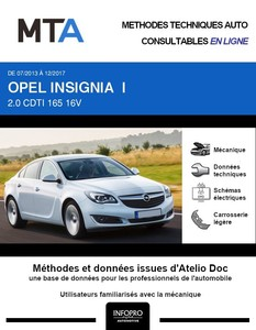 MTA Opel Insignia I berline phase 2