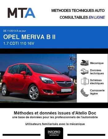 MTA Opel Meriva B phase 2