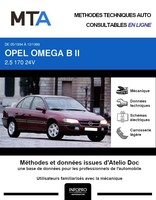 MTA Opel Omega B berline phase 1