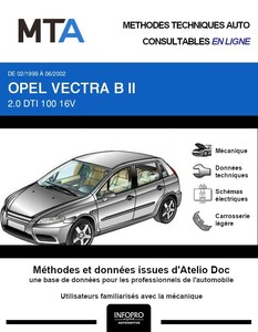 MTA Opel Vectra B berline phase 2