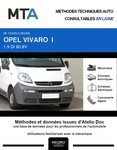MTA Opel Vivaro A chassis cabine phase 1