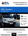 MTA Opel Vivaro A chassis cabine phase 2