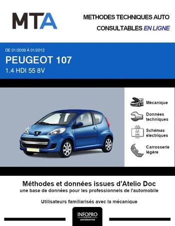 MTA Peugeot 107 3p phase 2