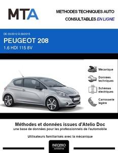 MTA Peugeot 208 I 3 portes