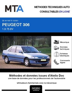 MTA Peugeot 306 berline phase 2