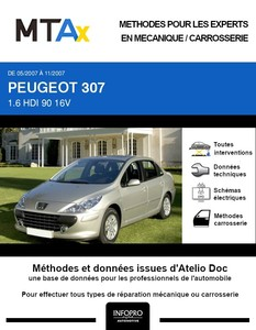 MTA Peugeot 307  berline phase 2