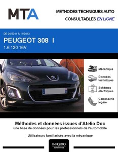 MTA Peugeot 308 I 3 portes phase 2