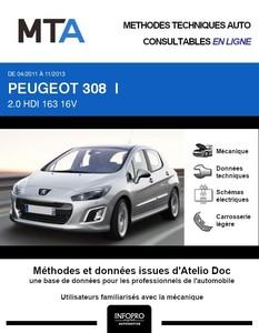 MTA Peugeot 308 I 5 portes phase 2