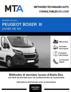 MTA Peugeot Boxer III chassis double cabine phase 2