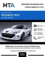 MTA Peugeot RCZ coupé phase 1