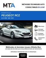 MTA Peugeot RCZ coupé phase 2