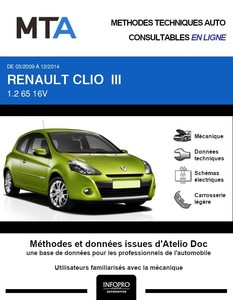 MTA Renault Clio III phase 2 3 portes