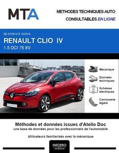 MTA Renault Clio IV 5 portes phase 1