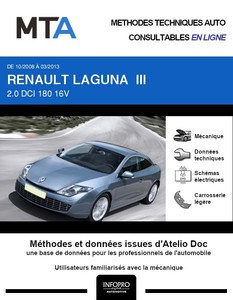 MTA Renault Laguna III  coupé phase 1