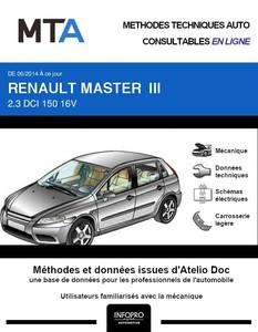 MTA Renault Master III  plateau double cabine phase 2