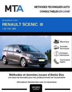 MTA Renault Scénic Grand Scénic III phase 1