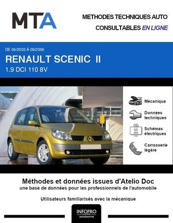 MTA Renault Scénic II phase 1