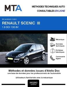 MTA Renault Scénic III phase 1