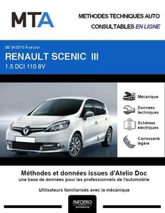 MTA Renault Scénic III phase 3