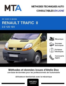 MTA Renault Trafic II chassis cabine phase 1